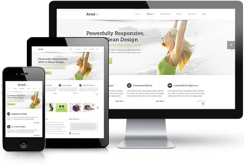 Avada WordPress thema is volledig responsive!